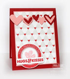 Suaje de Corte de Corazones y Bordes / Staggered Heart Border Die - Hobbees - 5