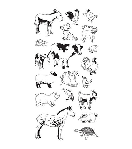 Animal Crackers Stamps / Sellos de Polímero de Animales