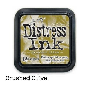 Cojin de tinta para sellos / Distress Crushed Olive - Hobbees