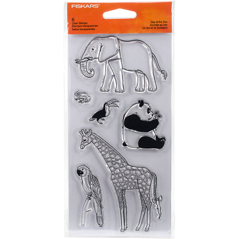 Day at the Zoo Clear Stamps / Sellos Acrílicos Día en el Zoológico - Hobbees