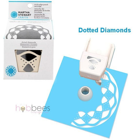 Dotted Diamonds Edge Punch Cartridge / Cartucho Diamantes a Lunares - Hobbees