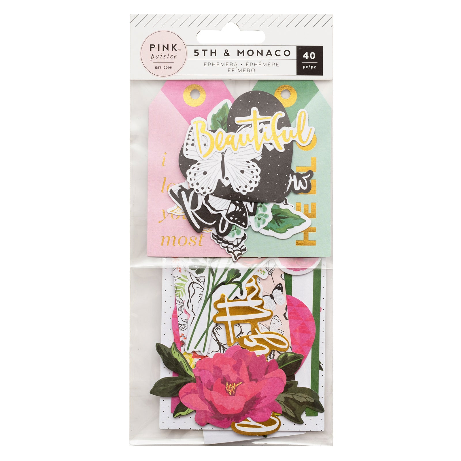 5th and Monaco Cardstock Die-Cuts / Paquete de Figuras Naturaleza