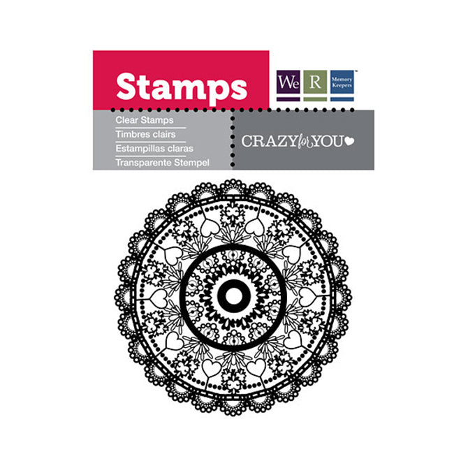 Clear Stamps Crazyfor You / Sellos De Polimero Loco por Ti
