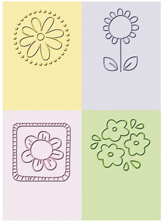 Embossing Folder Flowers / Folder de Grabado Flores - Hobbees