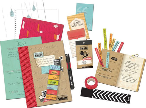 Smash Red Folio Bundle  / Kit de Cuaderno Rojo y Accesorios - Hobbees - 1