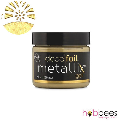 Deco Foil Metallix Gel Pure Gold / Gel Metálico Dorado