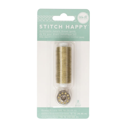 Stitch Happy Metallic Thread Gold / Hilo Metálico Dorado