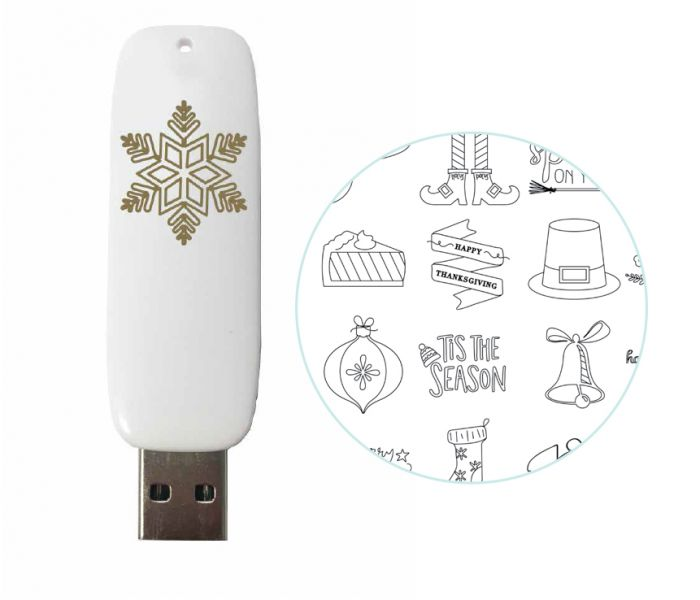 Foil Quill Holiday USB Art / USB con Diseños para Foil Quill