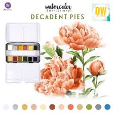 Watercolor Confections Decadent Pies / Acuarelas en Tonos Pasteles Fuerte