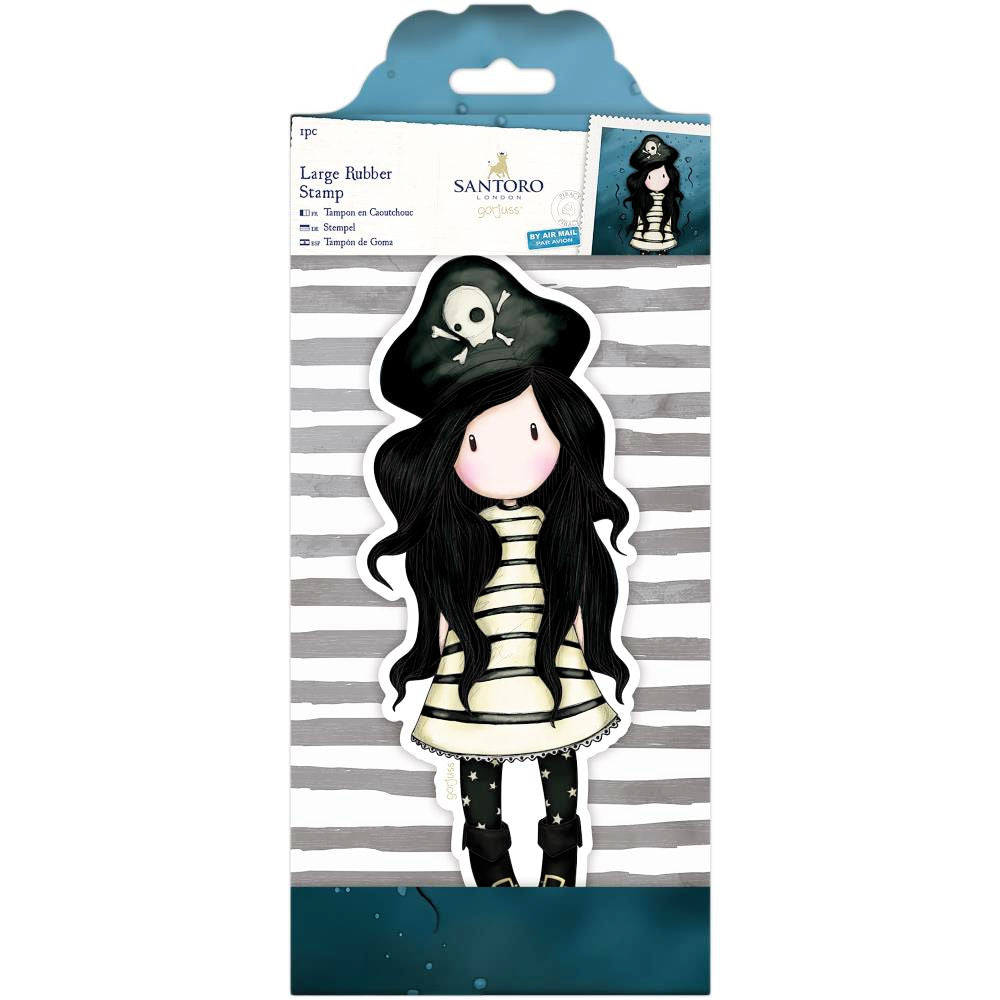 Gorjuss Large Rubber Stamp Piracy  / Sello de Goma Cling