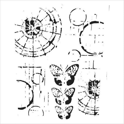 Mini Specimens Stencil / Plantilla de Mariposa - Hobbees - 1