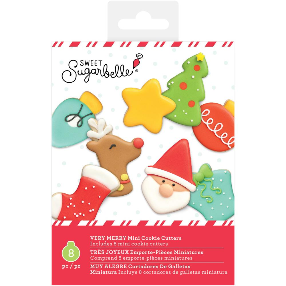 Mini Cookie Cutter Set Very Merry Christmas / Mini Cortadores de Galletas Navidad