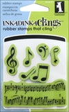 Music Notes Stamps 60-60152 / Sellos de Goma Cling Notas Musicales - Hobbees - 2