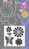 Set de Suajes y Sellos Cling de Naturaleza / Bold Pop Designs Set - Hobbees - 2