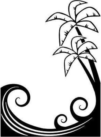 Embossing Palm Tree and Waves  / Folder de Grabado - Hobbees - 1