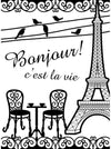 Embossing French Bistro / Folder de Grabado Torre Eiffel - Hobbees