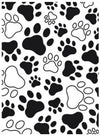 Embossing Paw Print Background / Folder de Grabado Patitas de Perro - Hobbees