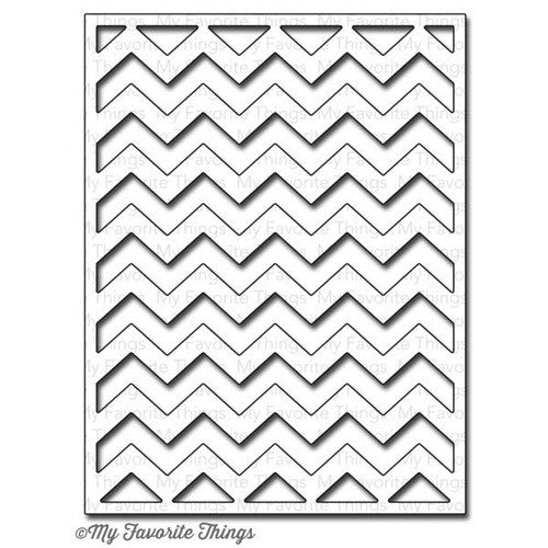 Suaje de Corte de Placa de Zig Zag / Chevron Cover Up - Hobbees - 1