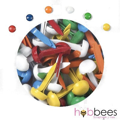 Mini Brads Primary Colors - Hobbees - 9