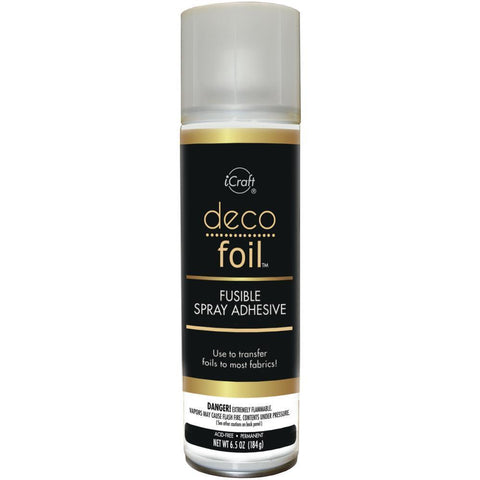 Deco Foil Fusible Spray Adhesive / Spray Adhesivo para Metalizar Tela