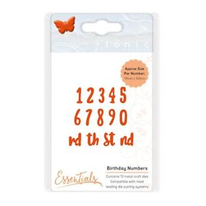 Essential Buildables Die Set Birthday Numbers / Suaje de Números - Hobbees