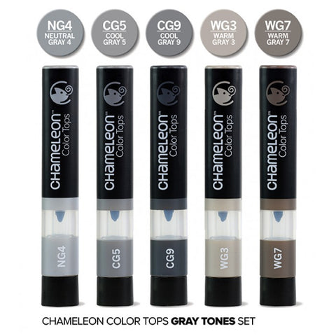 Chameleon Color Tops Grays Marker Set / Set de Marcadores Camaleon Grises - Hobbees