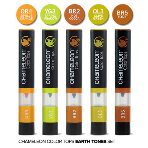 Chameleon Color Tops Earth Marker Set / Set de Marcadores Camaleon Tierras - Hobbees