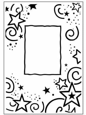 Embossing Stars Border  / Folder de Grabado Marco con Estrellas - Hobbees