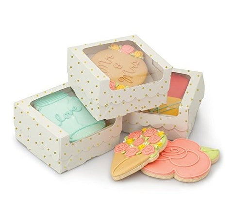 Sweet sugarbelle Single Cookie Box White /  Caja de Galletas Individuales Color Blanco