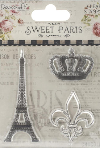 Sellos de Polímero / Sweet Paris, Eiffel Tower Clear Stamps - Hobbees - 1