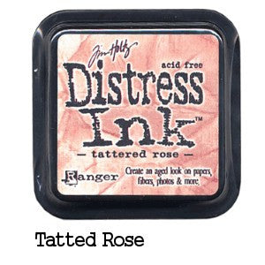 Cojin de tinta para sellos / Distress Tattered Rose - Hobbees