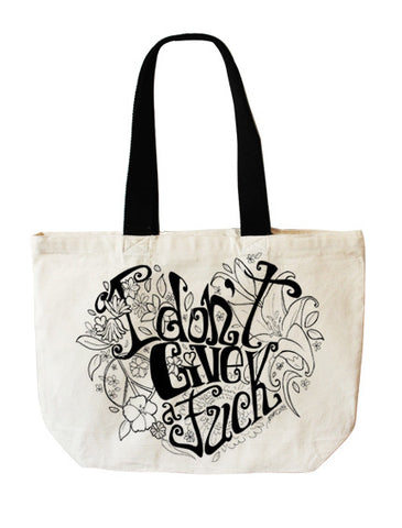 """I don't give a Fuck"" tote bag - Full Moony - 1"