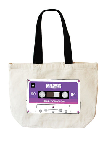 Audio Tape tote bag - Full Moony - 1