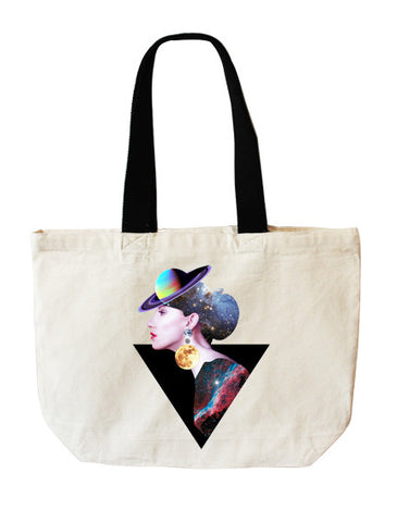 Lady Space tote bag - Full Moony - 1
