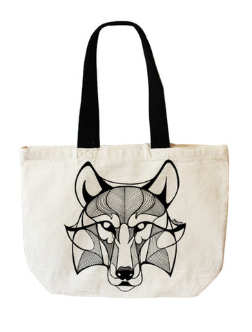 Wolf tote bag - Full Moony - 1