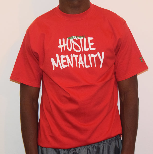 Hustle Mentality / Red T-Shirt