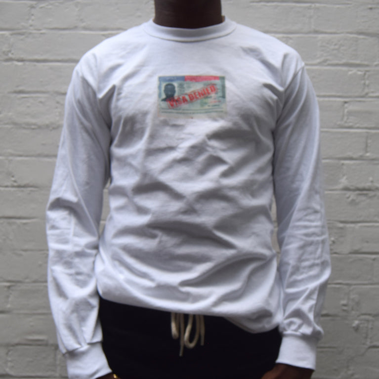 Visa Denied / White Long Sleeve
