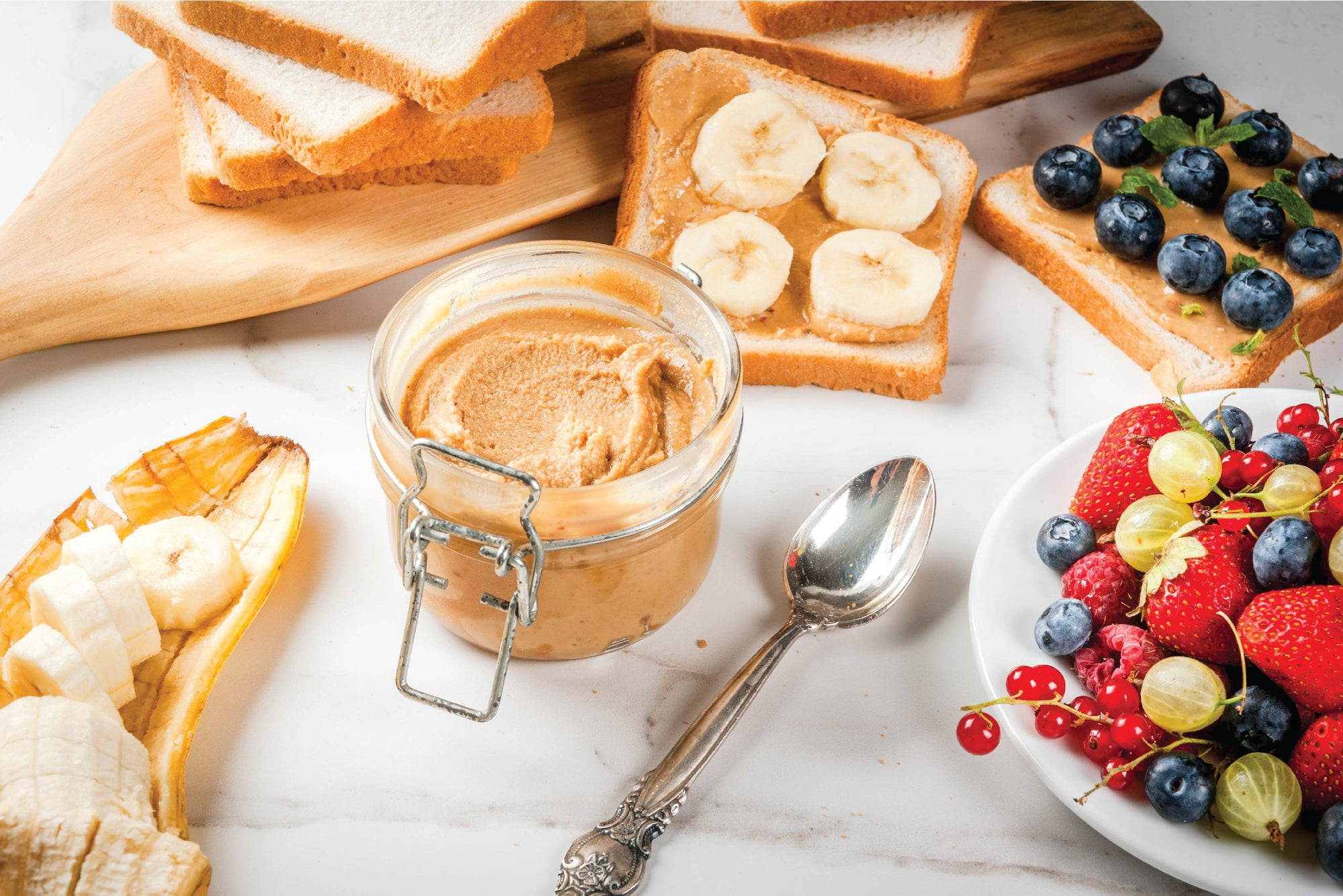 Banana peanut butter spread recipe