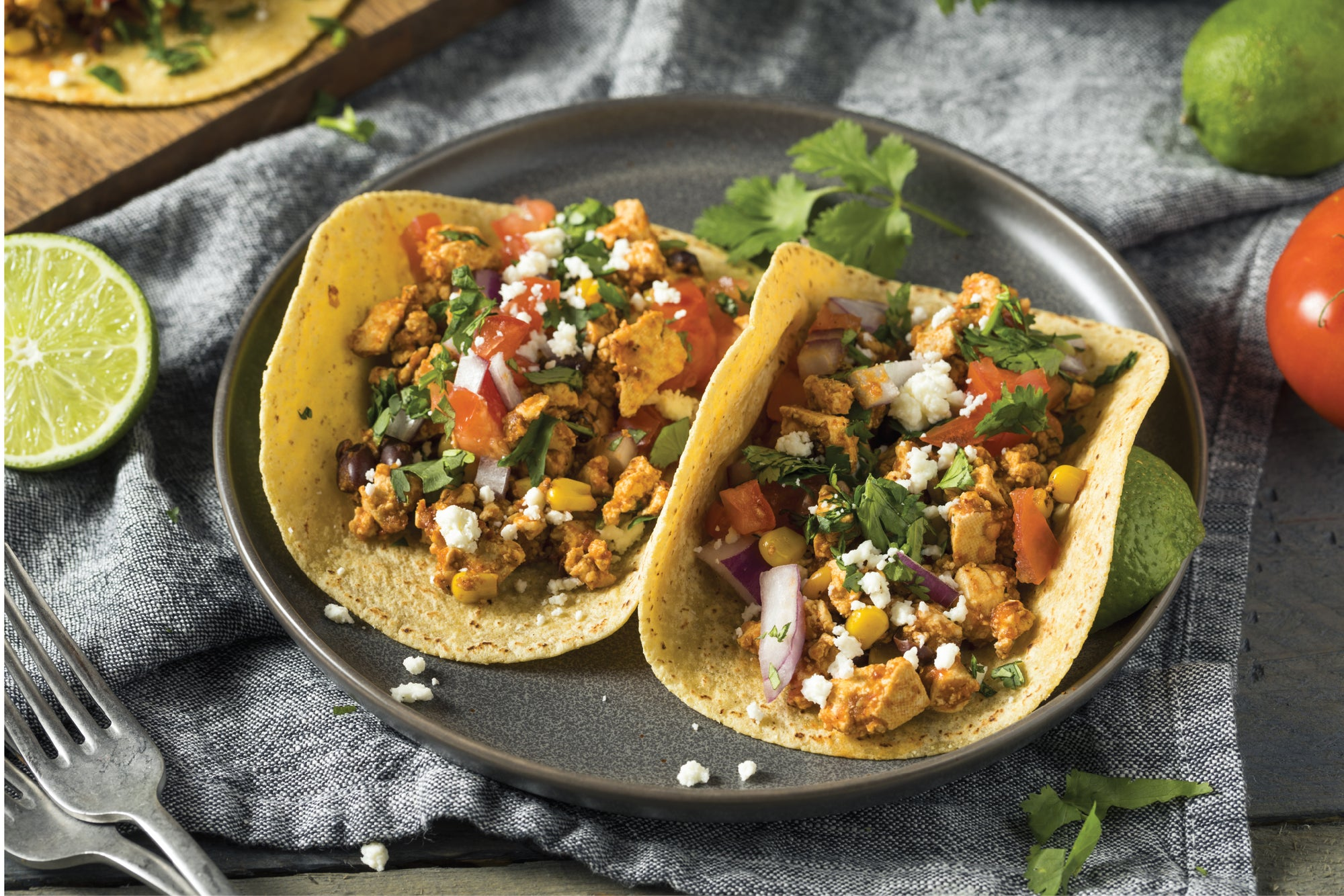 Healthy lunch idea that actually fills you up: Scrambled tofu tacos