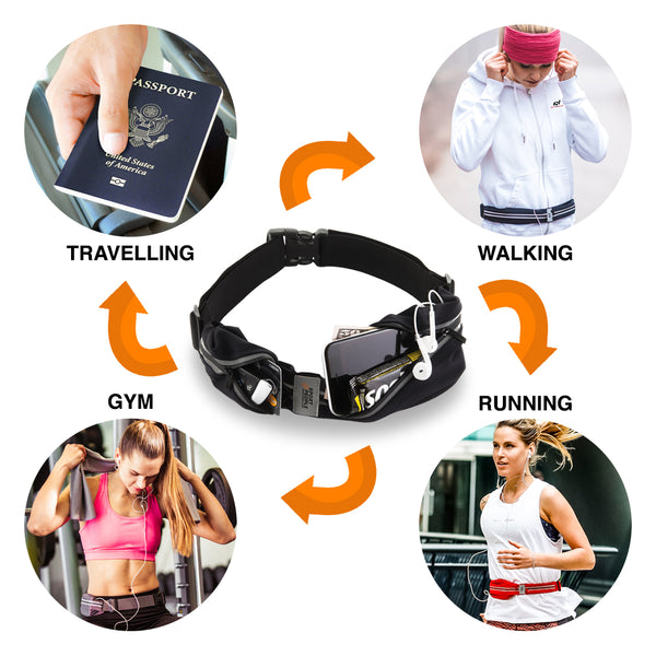 Running belt for gym, travelling, running
