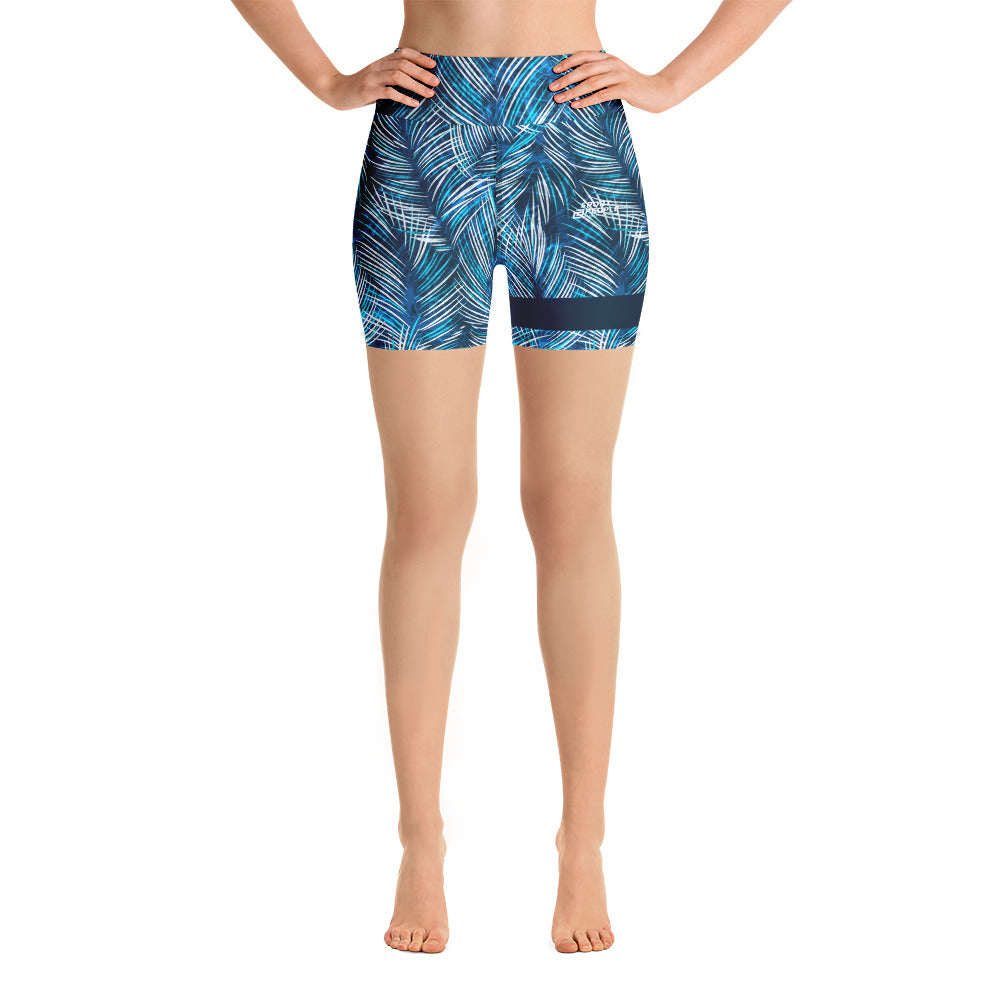 Blue Jungle Shorts with Navy Blue Hem - Sport2People