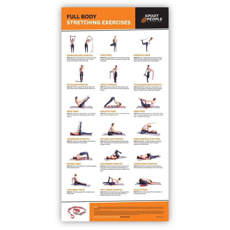 Full Body Stretching Exercise Poster - Sport2People