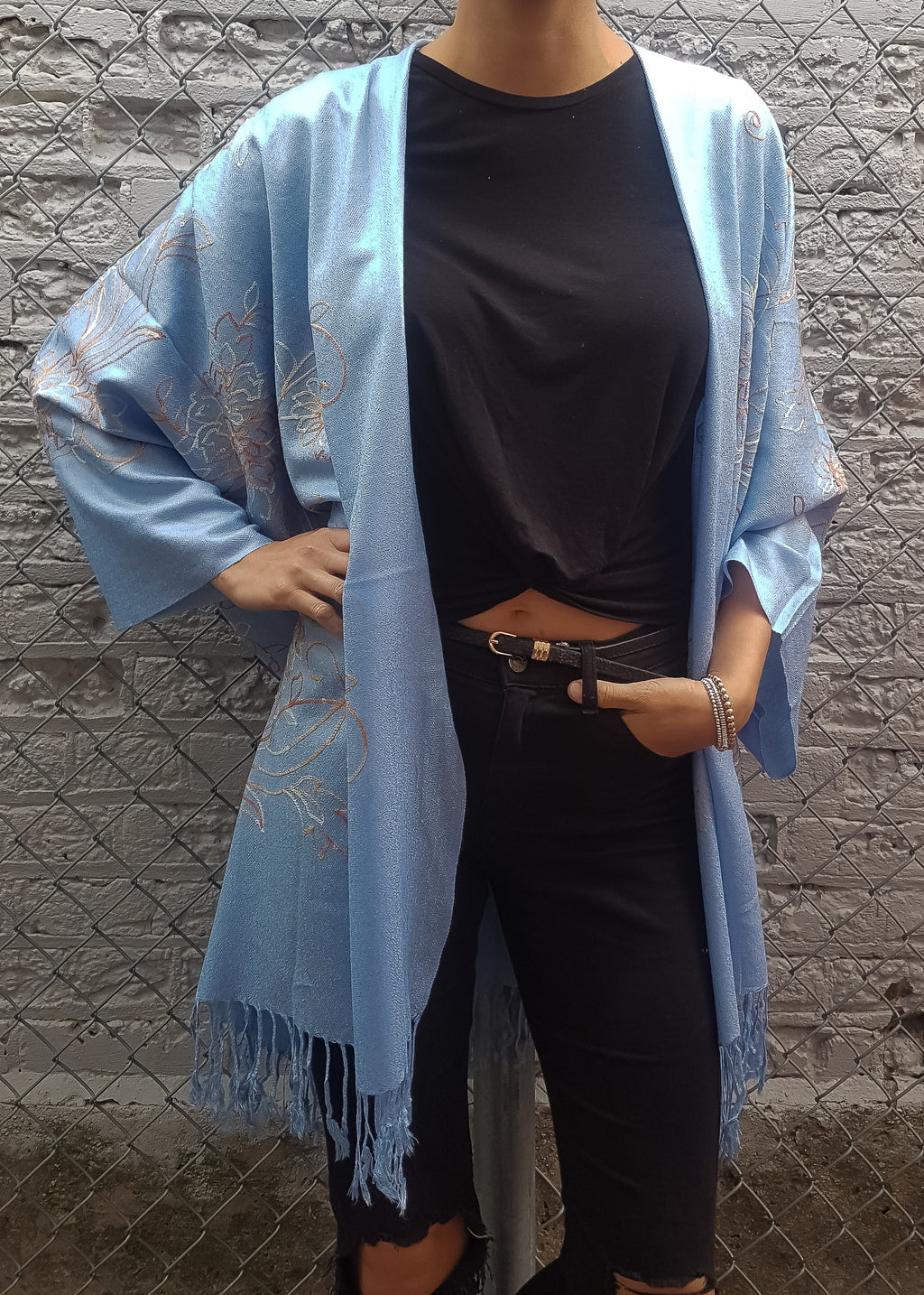 Nostalgia Boho Jacket in Sky