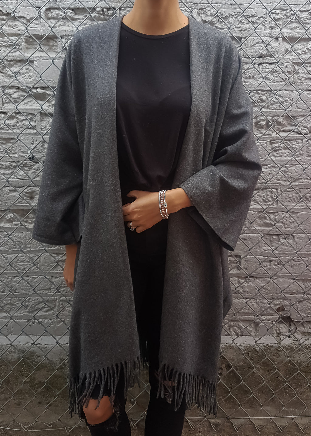 Amour Boho Jacket in Charcoal