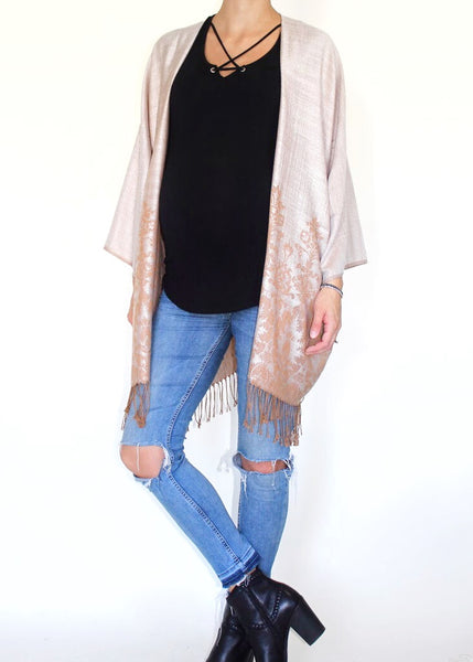 REGAL BOHO JACKET - SAND