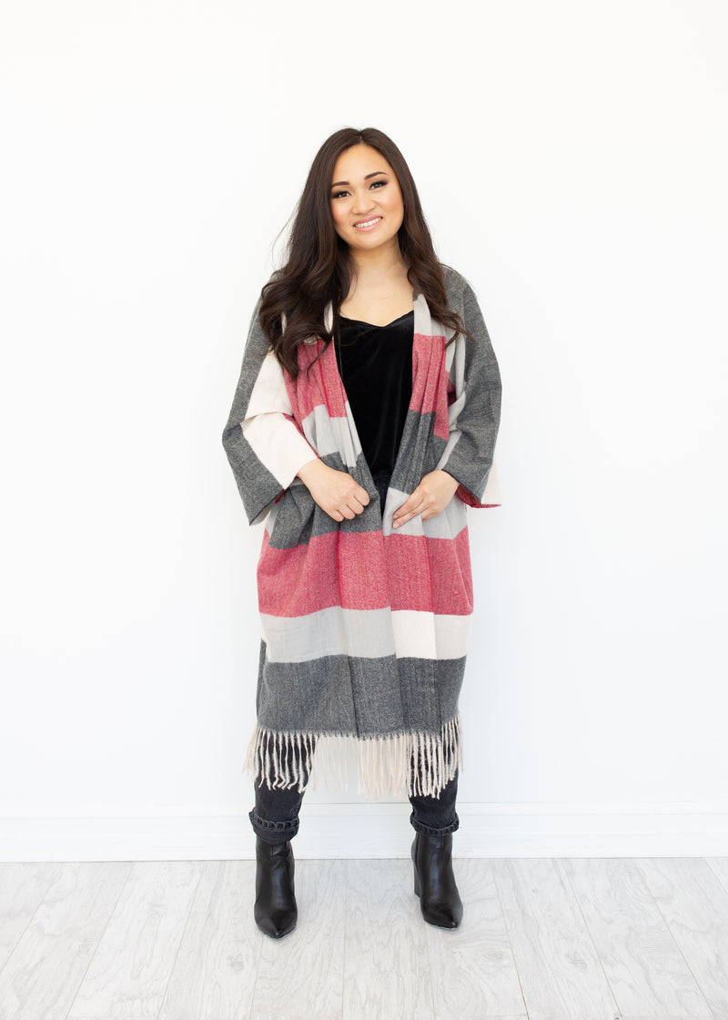 Apex Boho Jacket in Cranberry