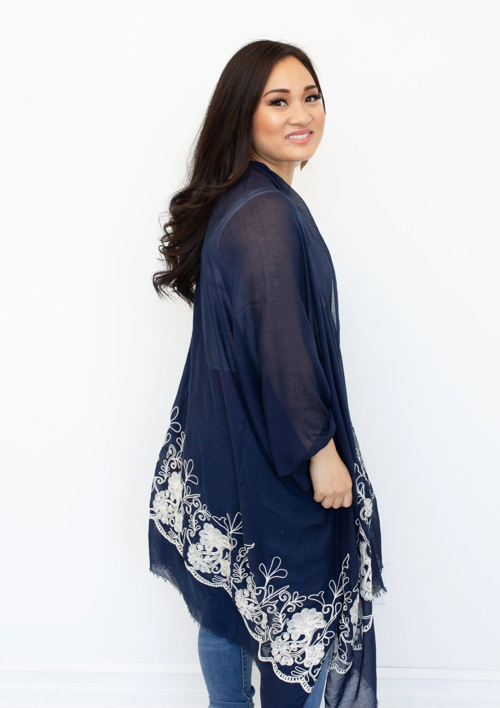 Ever After Kimono in Navy