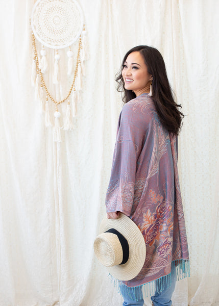 PRIMROSE BOHO JACKET - MERMAID