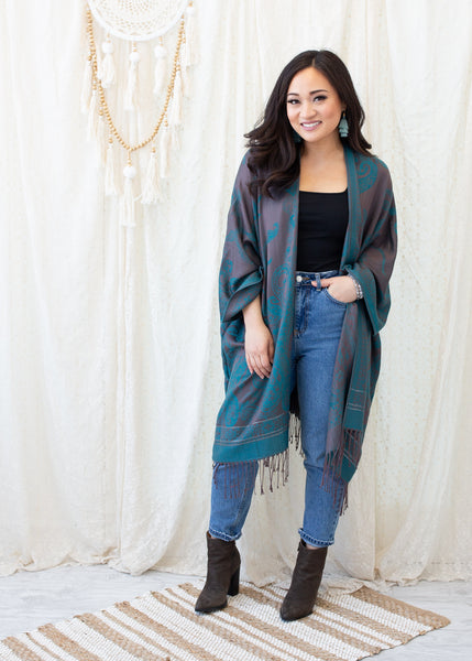 ZION BOHO JACKET - TEAL