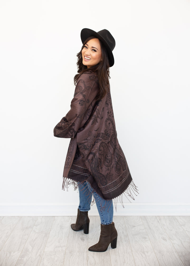 Zion Boho Jacket in Raven